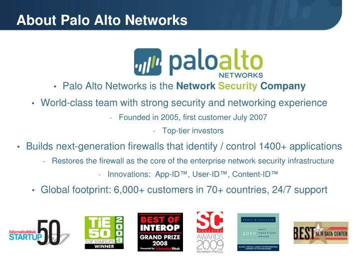 About palo alto networks