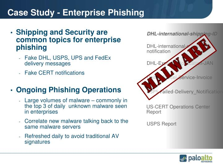 Case Study - Enterprise Phishing