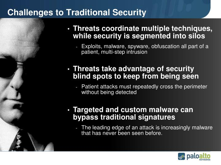 Challenges to Traditional Security