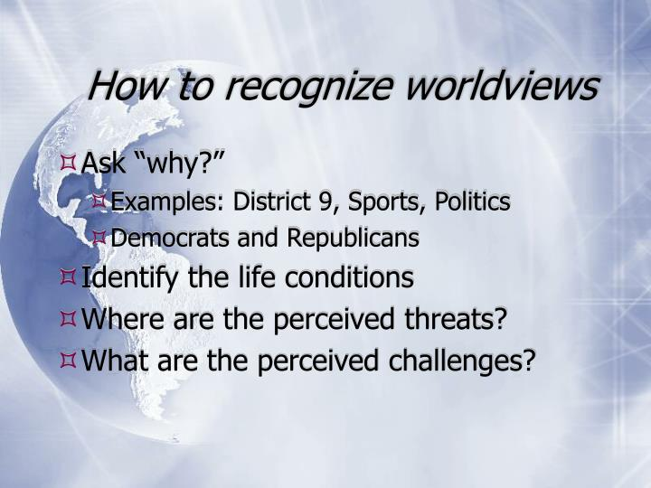 How to recognize worldviews