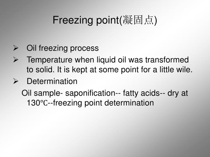 Freezing point(