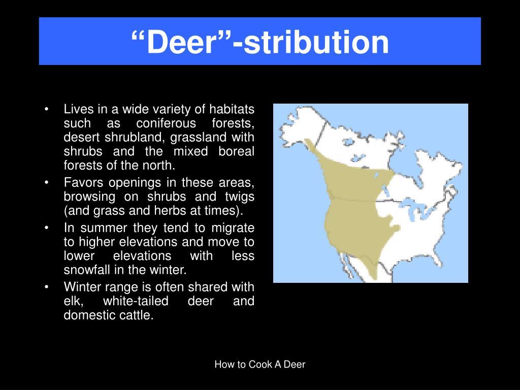 """""""Deer""""-stribution"""