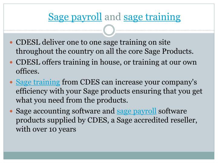 Sage payroll and sage training