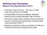 defining cost parameters measure cost specifications cont66