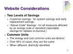 website considerations