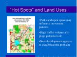 hot spots and land uses