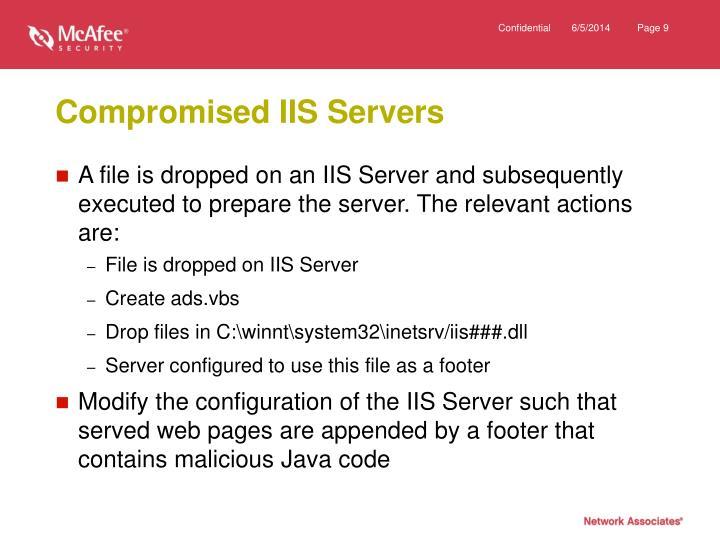Compromised IIS Servers