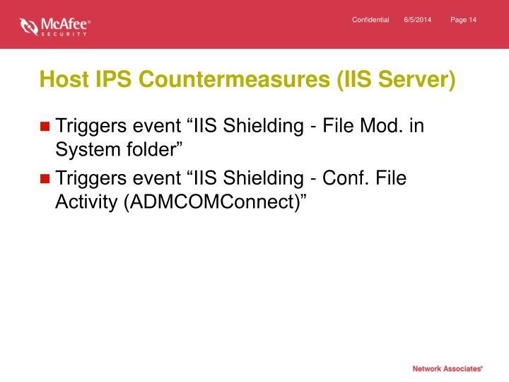 Host IPS Countermeasures (IIS Server)