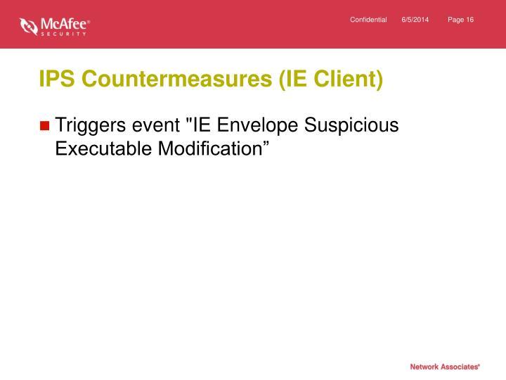 IPS Countermeasures (IE Client)