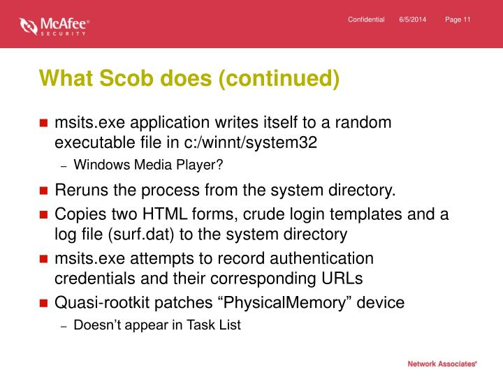 What Scob does (continued)