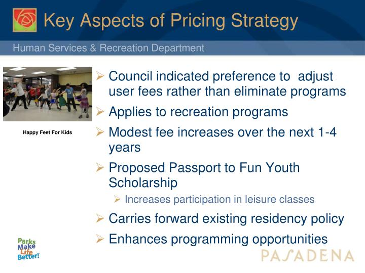 Key aspects of pricing strategy