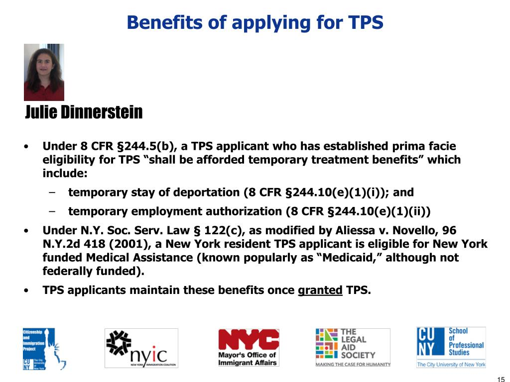 Benefits of applying for TPS