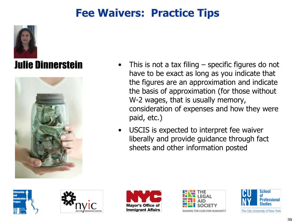 Fee Waivers:  Practice Tips