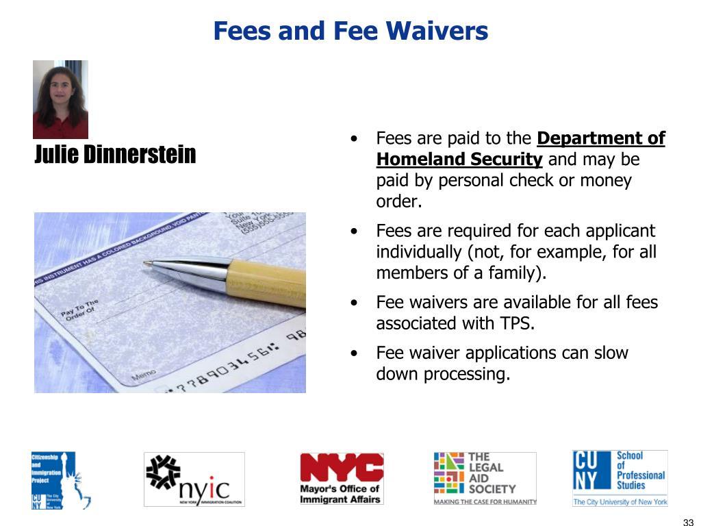 Fees and Fee Waivers