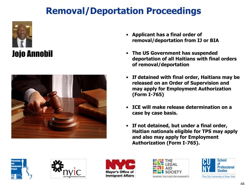 Removal/Deportation Proceedings
