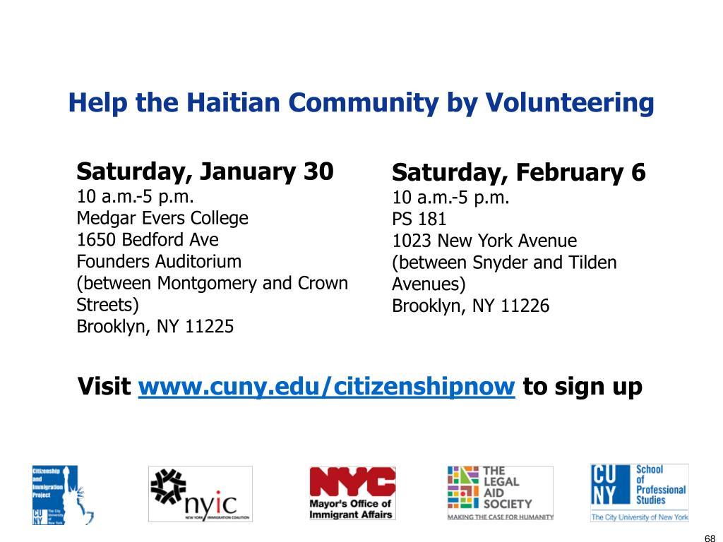 Help the Haitian Community by Volunteering