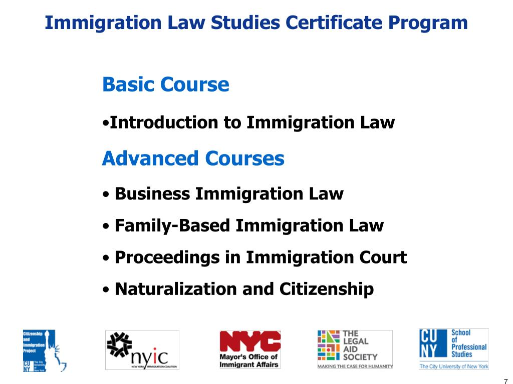 Immigration Law Studies Certificate Program