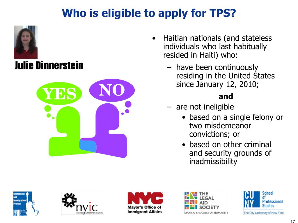 Who is eligible to apply for TPS?