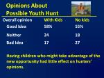 opinions about possible youth hunt6