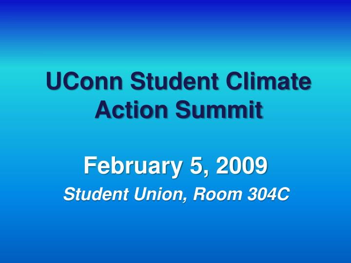 uconn student climate action summit n.