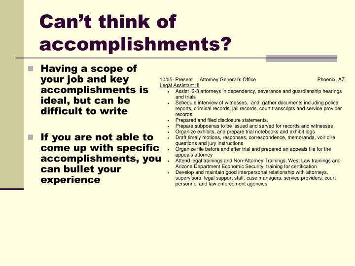 Can't think of accomplishments?