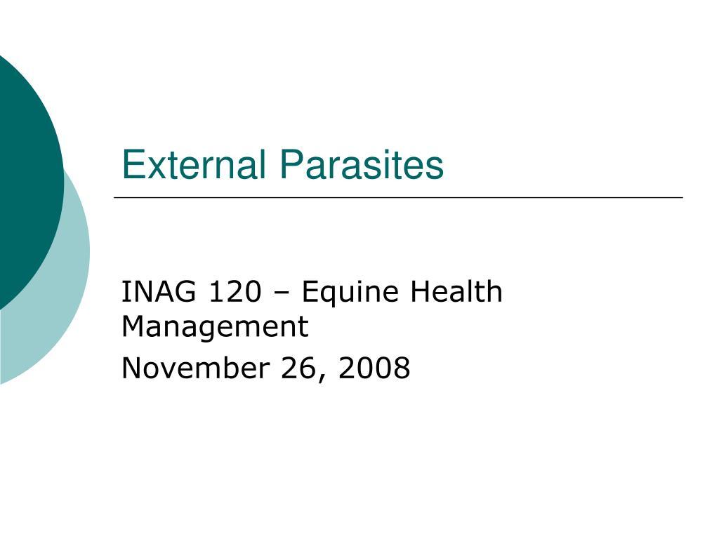 external parasites l.