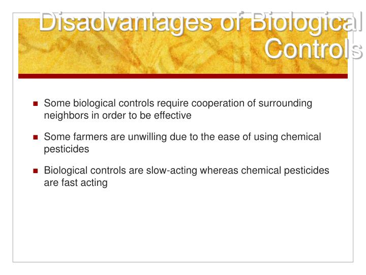 Disadvantages of Biological Controls