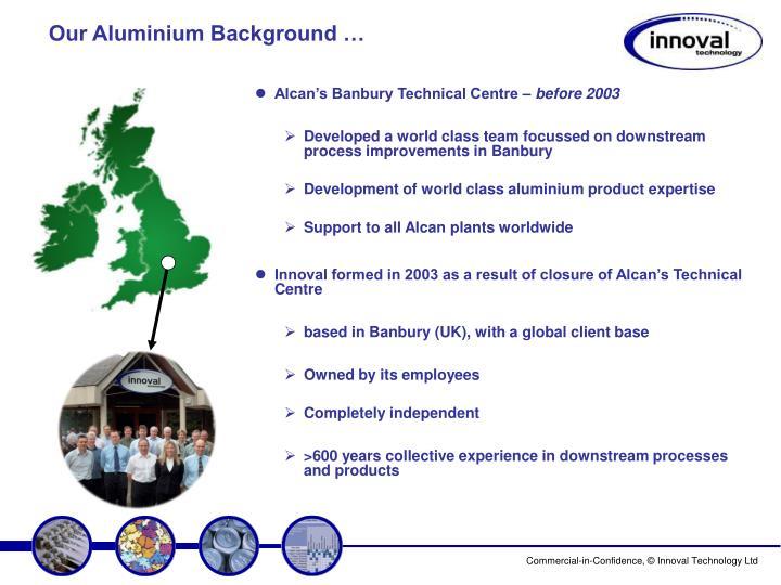 Our aluminium background