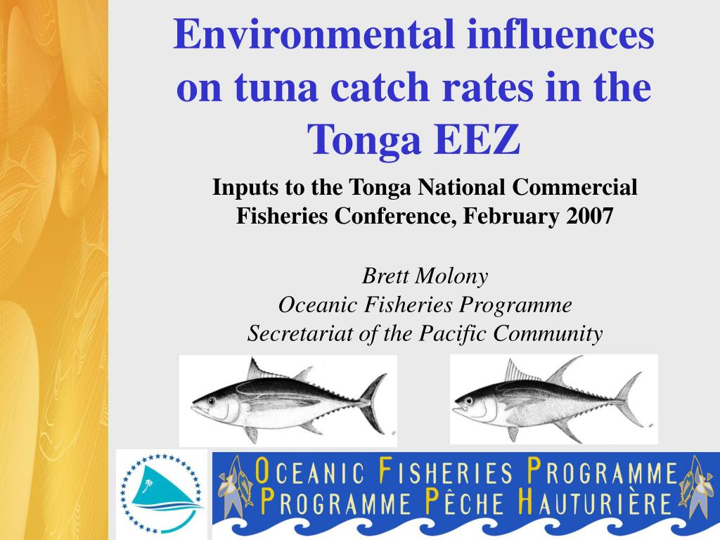 Environmental influences on tuna catch rates in the Tonga EEZ