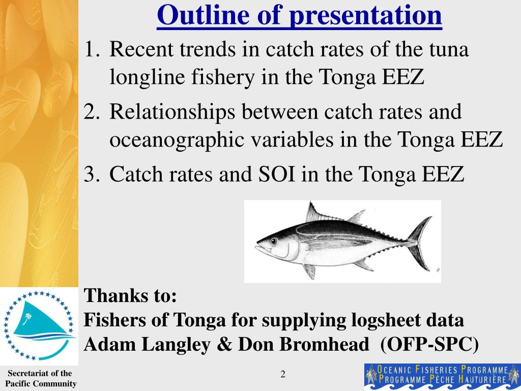 Recent trends in catch rates of the tuna longline fishery in the Tonga EEZ