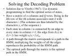 solving the decoding problem