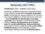 kotikuntal 201 1994