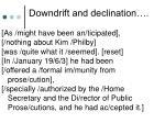 downdrift and declination