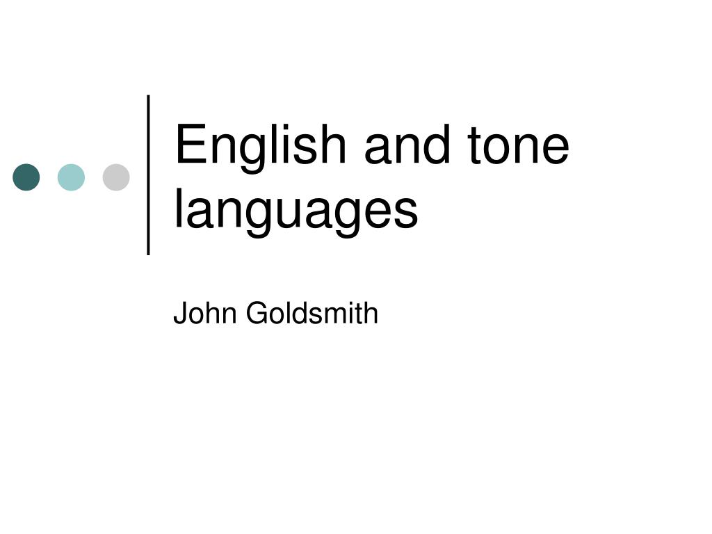 english and tone languages l.