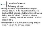 levels of stress primary stress