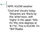 npr kuow weather