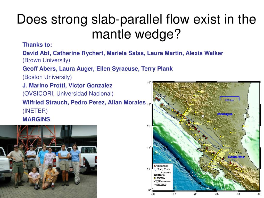 does strong slab parallel flow exist in the mantle wedge l.