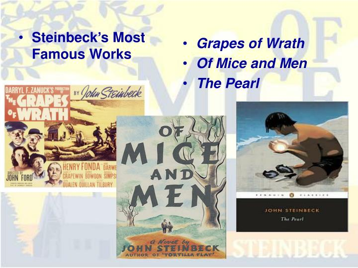 a plot summary of john steinbecks the pearl Two of the best are by american author and nobel prize-winner, john steinbeck: of mice and men, and the classic novella set in mexico, the pearl the grapes of wrath (1940), steinbeck's long novel about okies (oklahoma farmers) trying to survive during the dust bowl of the 1930s, brought steinbeck fame and fortune.