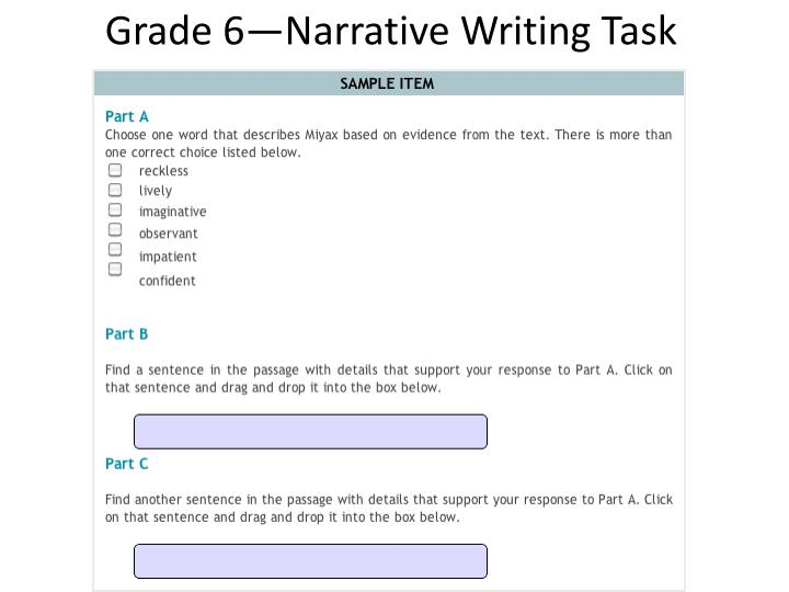 standard english assess task To aid educators in their own task development, the front matter of the classroom sample assessment tasks provides information about the tasks' development process so additional tasks can be created to assess a bundle of both math and science standards.