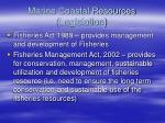 marine coastal resources legislation