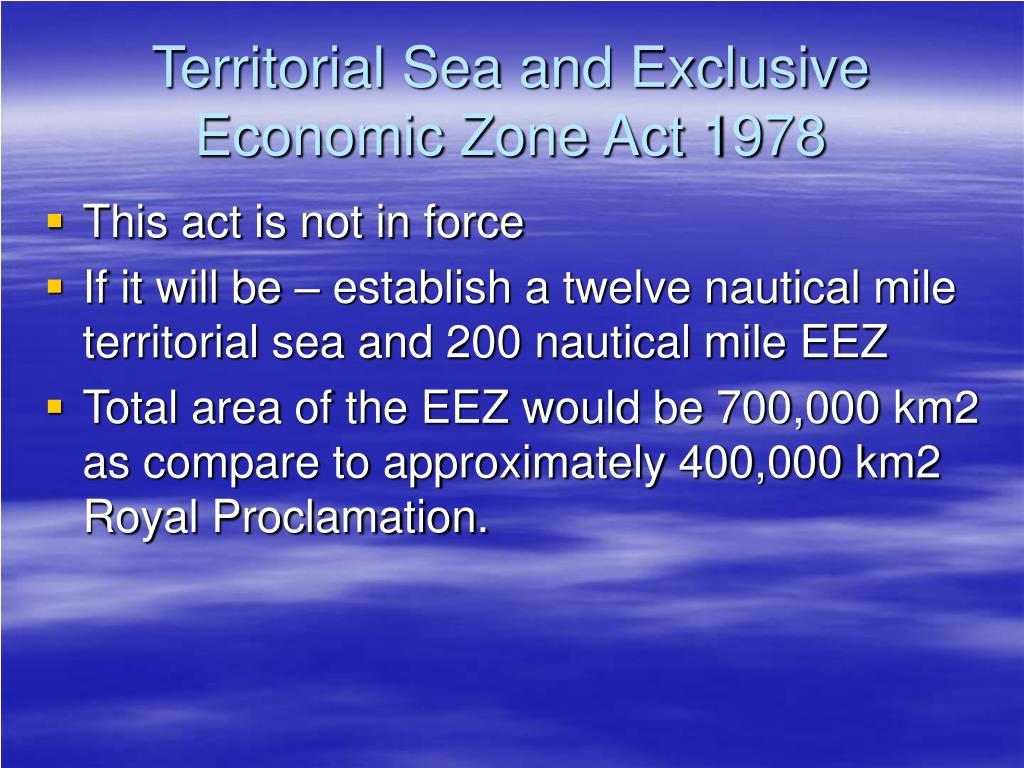Territorial Sea and Exclusive Economic Zone Act 1978