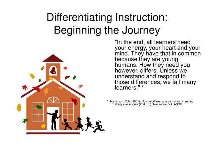 differentiating instruction beginning the journey n.