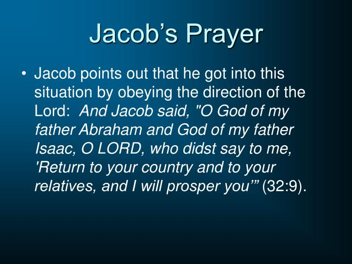 Jacob's Prayer