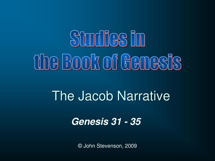 The jacob narrative