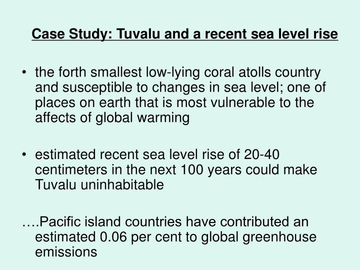 Case study tuvalu and a recent sea level rise