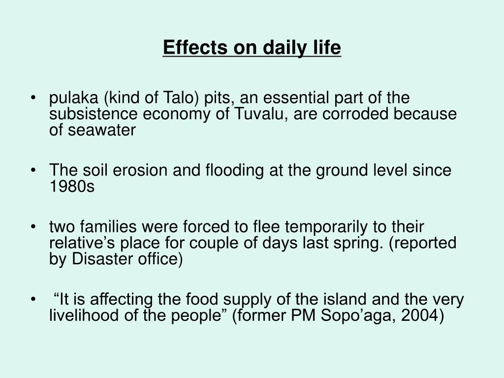Effects on daily life