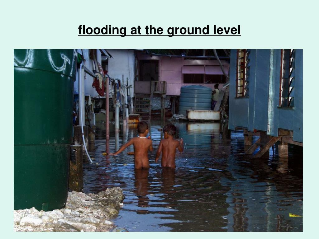 flooding at the ground level