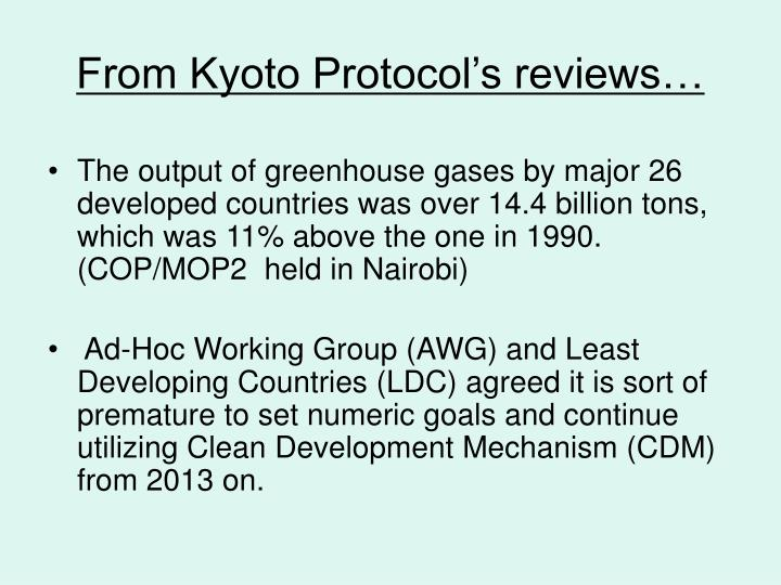 From kyoto protocol s reviews