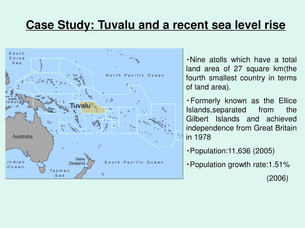 Case Study: Tuvalu and a recent sea level rise