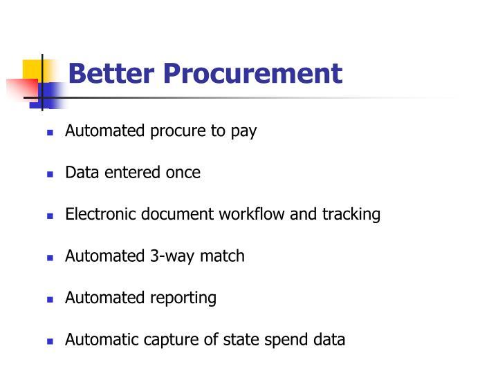 Better Procurement